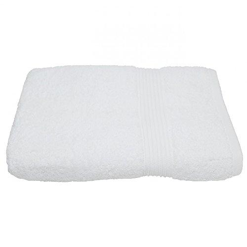 Julie Julsen Serviette sans produits chimiques - 600 g/m² - Blanc - 50 x 100 cm - 100 % coton - Certifié Öko-Tex Std 100 - Douce et absorbante - Lavable en machine