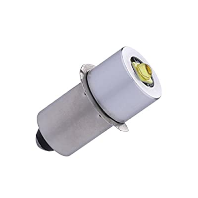 JOMITOP P13.5S PR2 High Power LED Upgrade Bulb for Maglite, 3W 200LM, DC 4-12V, 4.5V 6V 9V 12V Replacement Bulbs Led Conversion Kit for 3 4 5 6 C/D Flashlights Torch