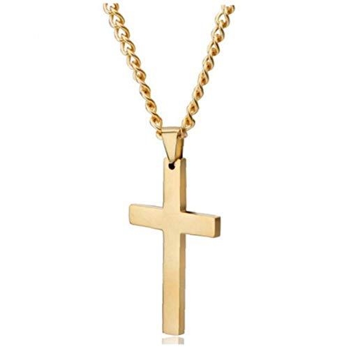 Froiny Cruz de Cadena Pendiente del Metal de Cristo Crucifijo Cruz Collar Hombres Mujeres Colgante Oración