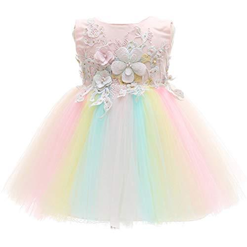 Monimo Bébé Fille Robes de Baptême Pleine Robe de Princesse