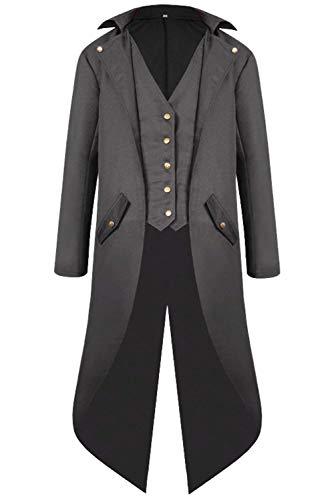 Herren Barock Steampunk Jacke Gothic Punk Mantel Mittelalter Mittelalterlichen Renaissance Kleidung...