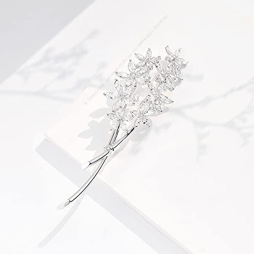 Concubina de Xiliang, Accesorios Occidentales, Broche de Abrigo, Broche de circón Color orquídea