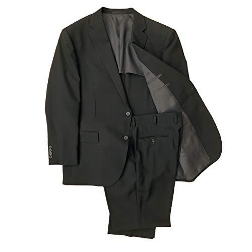 礼装倶楽部 メンズ ビッグサイズ ブラックフォーマルスーツ 夏 ワンタック 930-00 3L