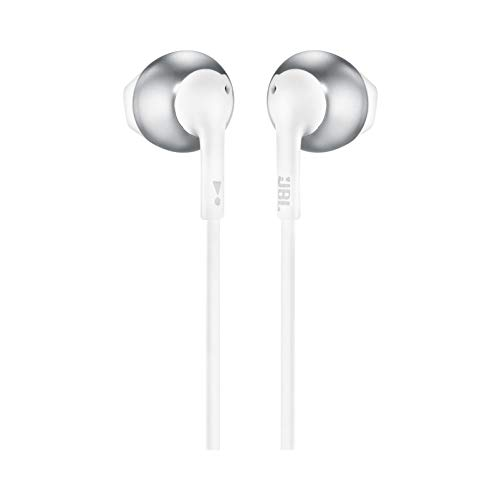 JBL TUNE 205 - In-Ear Headphone with One-Button Remote/Mic - Chrome