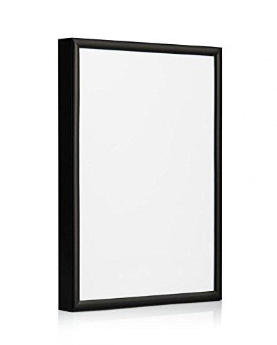 Cornice moderna in alluminio, disponibile in Nero, Argento, Oro, Rosso, Blu, Bianco, Alluminio, Black Pack of 1, 5 x 7'