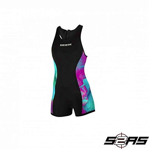 Mystic Watersports - Surf KiteSurf & Windsurfing Dames Diva 2mm Back Zip Short John Wetsuit Aurora
