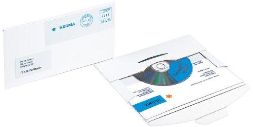 Herma 2001 CD-postpak verzendkoper (met steeksluiting, doos, 220 x 124 mm) 25 stuks wit