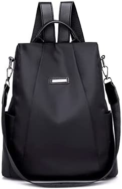 EDPD women's waterproof backpack .Lightweight bag, With zipper closure antitheft back pocket and Adjustable shoulder straps (Clear)