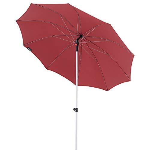 Knirps Sonnenschirm Manual - Eleganter, sehr Leichter Gartenschirm - Stufenlos knickbar - Starker UV-Schutz - 220 cm - Bordeaux