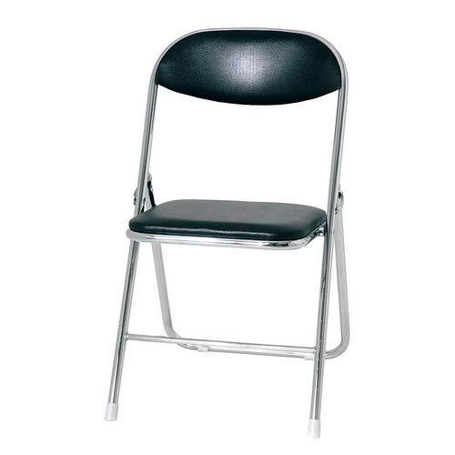 Klappstuhl Simple Sitz und Rücken Schwarz