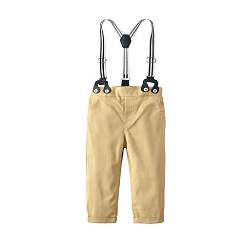 ProperLI-Vêtements de Monsieur Enfant garçons bébé Bretelles Sangle Pantalon Salopette en Coton, Couleur Unie, Style Britannique