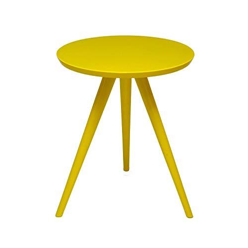 Mesa de Canto Tripe Alta LC Marques Amarelo