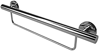 Lifeline Straight Towel and Grab Bar - 2 in 1 Mobility Aid | 24 Inch | Polished Chrome