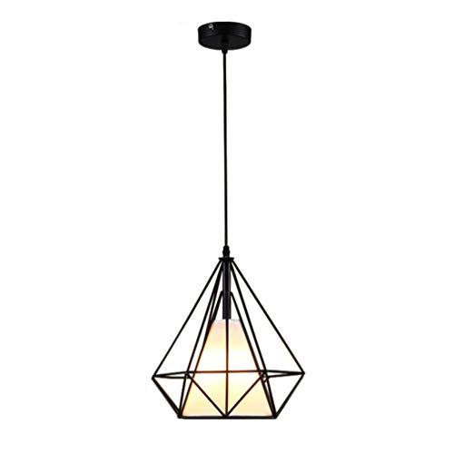 FRCOLOR Vintage Metal Enjaulado Colgante Luz Industrial Colgante Lámpara Sombra Rústico Techo Accesorio de Luz para Pasillo Cocina Dormitorio Porche ()