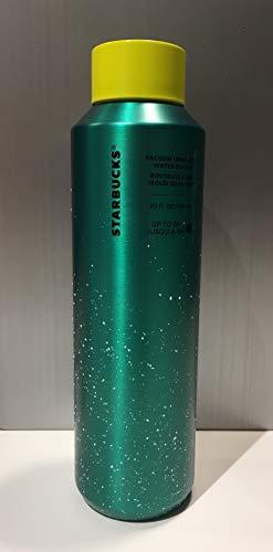 Starbucks Botella de agua con aislamiento al vacío, color verde, 20 oz