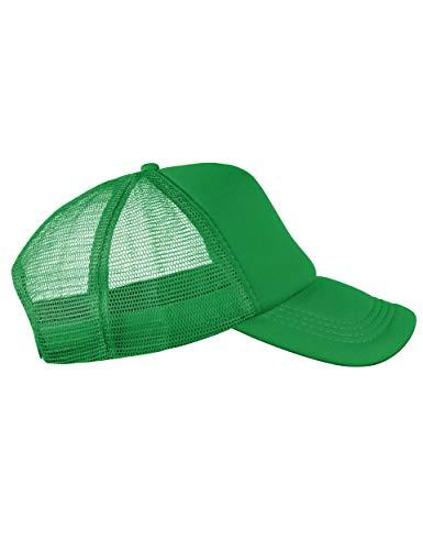 Balinco Trucker Cap Mütze Classic Happy für Herren und Damen, One Size Snapback (Green)