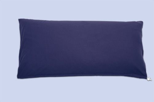 Theraline Kopfkissen, Mikroperlenfüllung 67x38 cm inkl. Bezug, Jersey marine