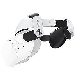 DISEÑO MEJORADO: la correa para la cabeza está especialmente diseñada para Oculus Quest 2. Como alternativa a la correa original de élite, hay una actualización importante de la correa Oculus Quest 2 Elite. Sostiene los auriculares Oculus Quest 2 en ...