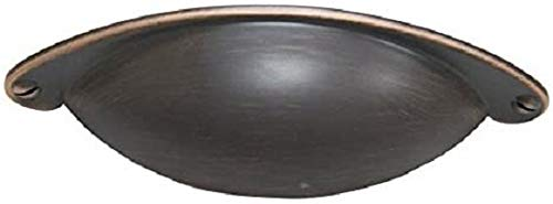 Style Selections 2.52 in. Center-to-Center Aged Bronze Arched Cabinet Pull- Set of 4