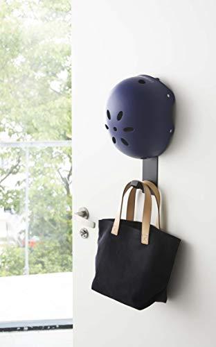 山崎実業マグネットキッズヘルメットフックブラック約W6×D7.2×H35cmタワーヘルメット収納マグネット4728