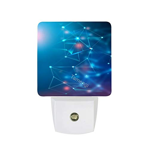 Set of 2 Led Night Lights,Plug-in Led Night Light Lamp Coronavirus Spreading All Over The Place Background with Dusk to Dawn Sensor for Bedroom Bathroom Hallway Stairways Energy Efficient