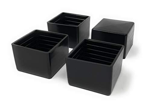 Design61 4x Kappen für Vierkantrohre 40 x 40 mm Schutzkappen Gleiter Bodenschutz für Vierkantrohre