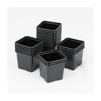 Pot carr/é noir 7x7x6.5-0,24L