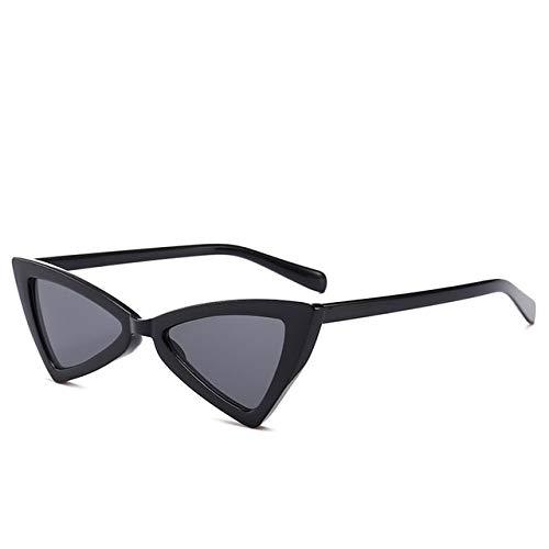TYJDQXX driehoekige zonnebril, dames-kattenoog-zonnebril, kleine zwarte mode-schaduw