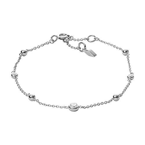 Fossil Damen-Kettenarmband 925 Sterlingsilber zirkonia JFS00452040