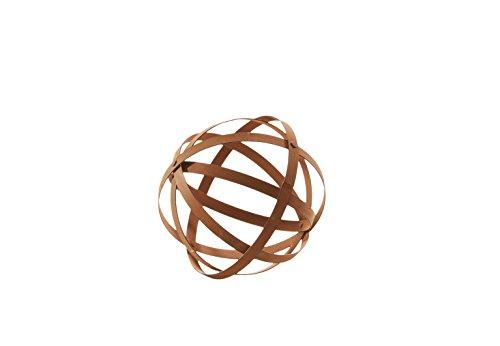 Kobolo Wunderschöne Dekokugel in Streifendesign und Rostoptik 25 cm Durchmesser