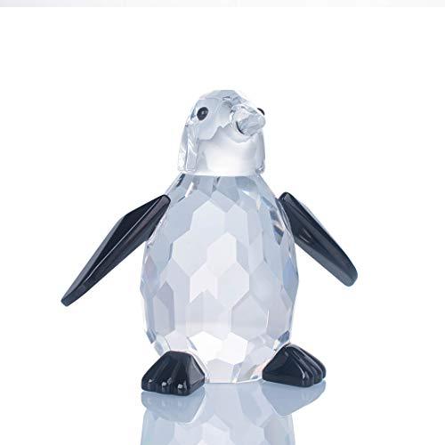 LONGWIN Figuras de cristal lindas de pingüino coleccionables figuras de animales de cristal decoración de escritorio adornos