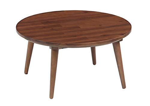 Kotatsu Japanese Heated Table - Japanese Dining Table - Furniture Chabudai - Circular - Round Φ 75 x 75 x 38 cm