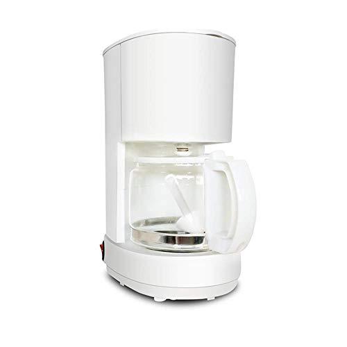 Filtro de café de la máquina, 550W Cafetera for café instantáneo, café espresso, macchiato más, con 0,6 l Jarra de cristal desmontable filtro de café de la máquina amoladora 550W (Color: Negro) WTZ012