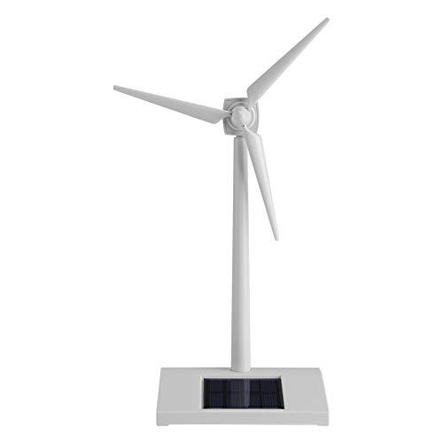 Modelo de turbina eólica de escritorio Molinos de viento con energía solar Plásticos Herramienta de enseñanza de ciencia blanca Decoración del hogar