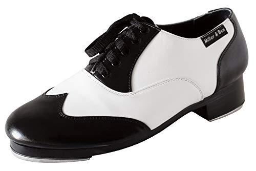 Miller & Ben Tap Shoes; Jazz-Tap Master; Black & White Wide Width Tap Shoe