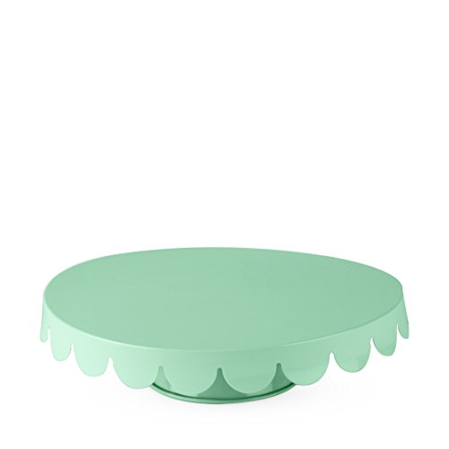 Cakewalk 6169  Stainless Steel Metal Cake Stand, Cupcake Holder, Home Decor, and Kitchen Accessory, Mint, Set of 1