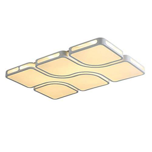 YBZS Led Deckenleuchte 36W, Warmes Licht/Weißes Licht Optional/Schmiedeeisen Acryl Wohnzimmer Lampe Schlafzimmer Lampe,B