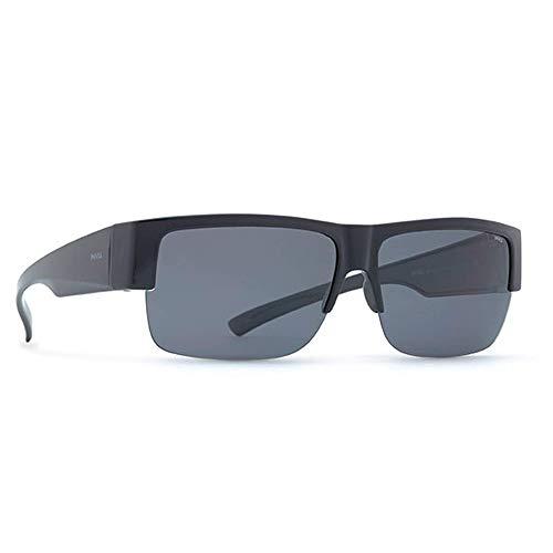 INVU Unisex Polarisierte Sonnenbrille EasyFit E2602 Schwarz (E2602A), Linse Grau