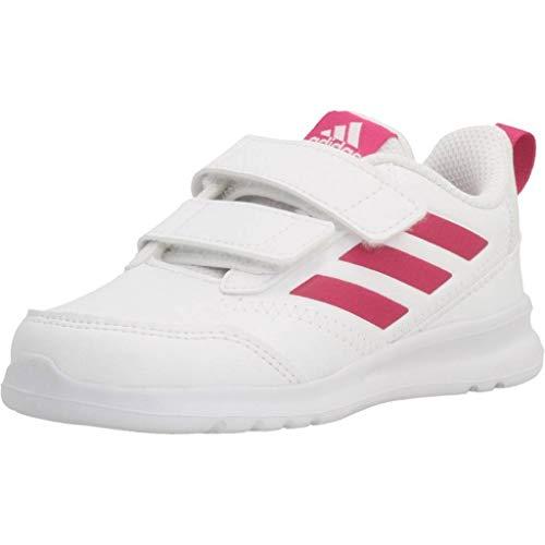 adidas Altarun CF I, Zapatillas de Gimnasia Unisex niños, Blanco (FTWR White/Real Magenta/FTWR White FTWR White/Real Magenta/FTWR White), 21 EU