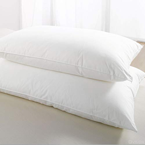 Mastex 2-Pack Standard Pillows - Ultra Bounce Hotel Collection Bed Pillow White Non-Allergenic Hollow Fibre 50 x 75 CM