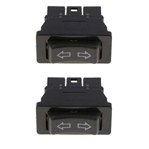 KESOTO 2 Pcs. Universal Schwarz Electrische Fenster Schalter Button Fensterheber Schalter, Hinten Links/Rechts