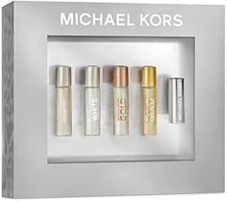 Michael Kors 4 Eau de Parfum Rollerballs (.17 Oz Each) Sampler with Rollerball Connector
