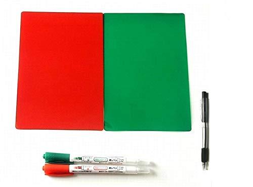 暗記 下敷 & マーカーペン セット (赤マーカー/緑マーカー/赤シート/緑シート) シート 2枚 & マーカーペン 2本 & オリジナルボールペン