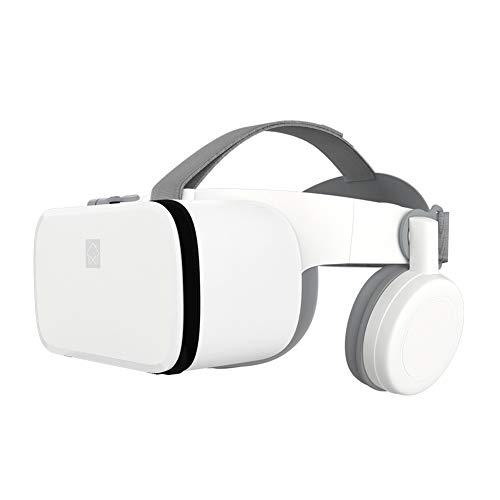 Lcme VR-Headset mit Bluetooth-Kopfhörer, VR Brille 3D-Virtual-Reality-Headset mit HiFi-Kopfhörer-Stereo VR Google Karton Headset Helm