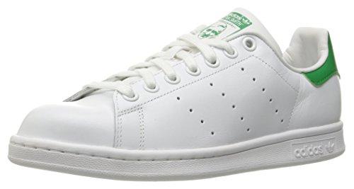 adidas Originals Women's Stan Smith, White/White/Green, 8
