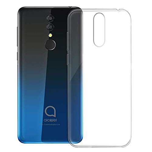 TBOC Transparent Gel TPU Hülle für Alcatel 3 2019 - Alcatel 3 (2019) [5.9 Zoll] Superdünn Flexibel Silikon Gehäuse für Handy [Nicht Kompatibel mit Alcatel 3]
