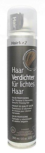 Hairfor2 Haarverdichtungsspray gegen lichtes Haar (300ml, Mittelbraun)