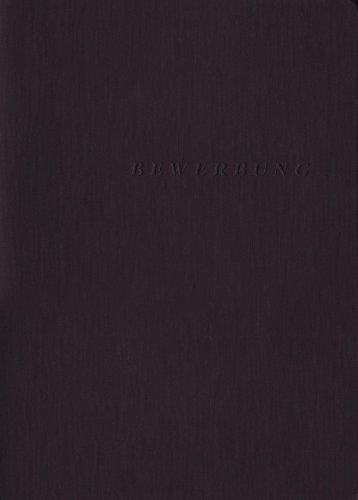 Exacompta 49401B Bewerbungsmappe (3-teilig mit 2 Klemmschienen und Innentasche, Kapazität 30 Blatt, Manila-Leinen-Karton, 400 g, Nature Future, DIN A4) 1 Stück schwarz