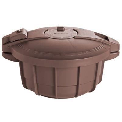 Mikrowellen-Schnellkochtopf, braun, mit Rezepten, 27 cm Ø x 13 cm H, 2,2 Liter