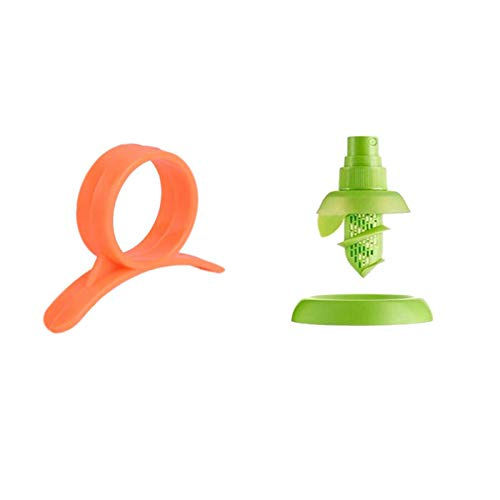 Hebudy Fruit Sprayer Orange Peeler Set Citrus Lemon Juicer and Peeler Kitchen Squeezing Tool Kitchen Helper 2 Pack